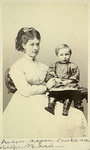 with mother (3 years old), 1869