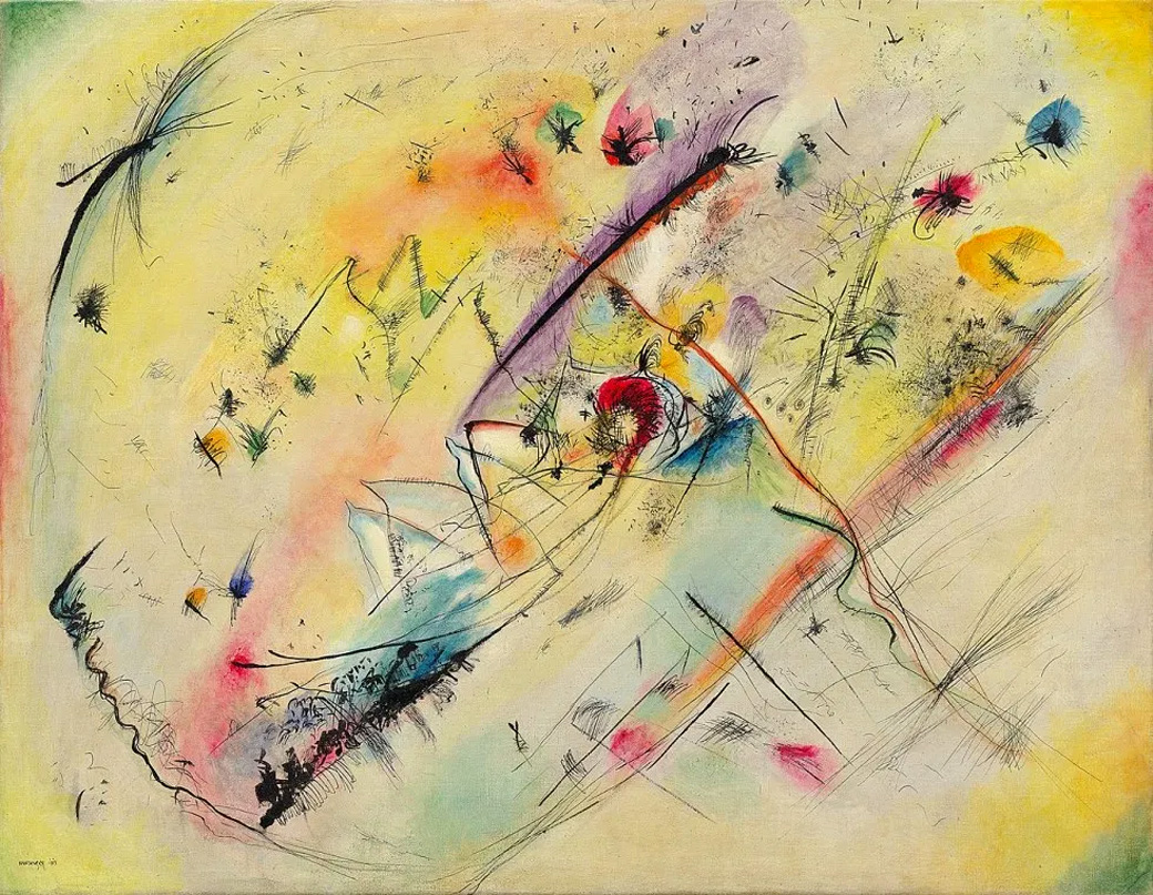Painter Wassily Kandinsky. Bright Picture. 1913
