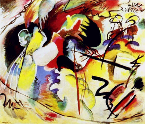 Picture with White Form (1913)  by Wassily Kandinsky