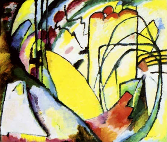 Painter Wassily Kandinsky. Painting. Improvisation 10. 1910 year