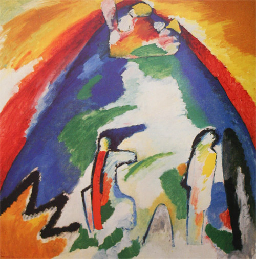A Mountain (1909)  by Wassily Kandinsky