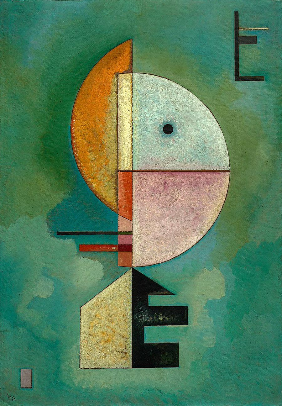 Painter Wassily Kandinsky. Painting. Upward. 1929 year