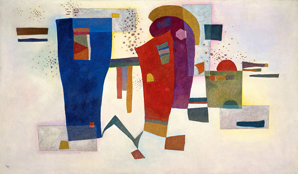 Accompanied Contrast (1935)  by Wassily Kandinsky
