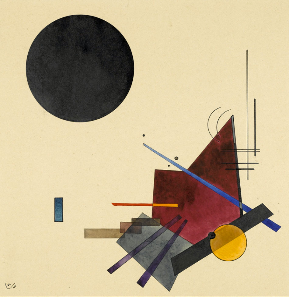 Black Relationship (1924)  by Wassily Kandinsky