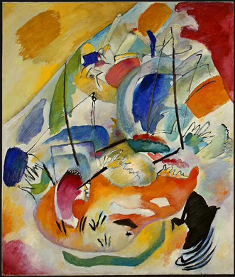 Painter Wassily Kandinsky. Painting. Improvisation 31 (Sea Battle). 1913 year