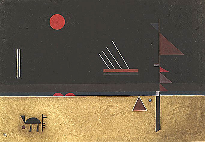 Painter Wassily Kandinsky. Painting. Brownish. 1931 year
