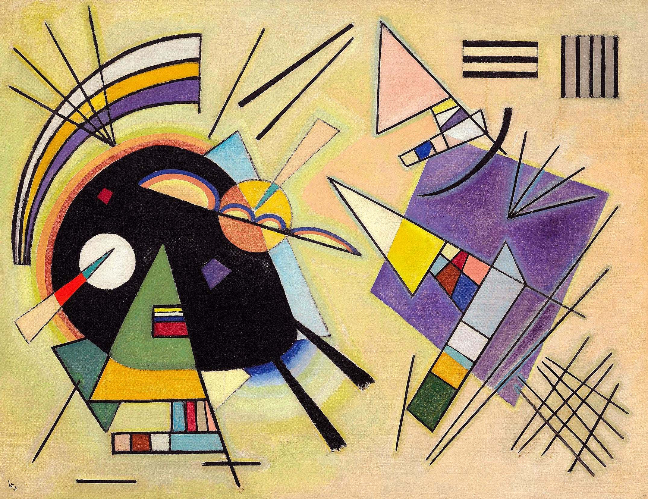 Wassily Kandinsky. Black and Violet. 1923 year