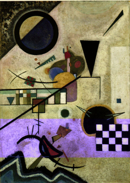 Wassily Kandinsky. Contrasting Sounds. 1924 year