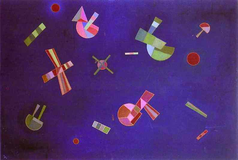 Painter Wassily Kandinsky. Painting. Fixed Flight. 1932 year