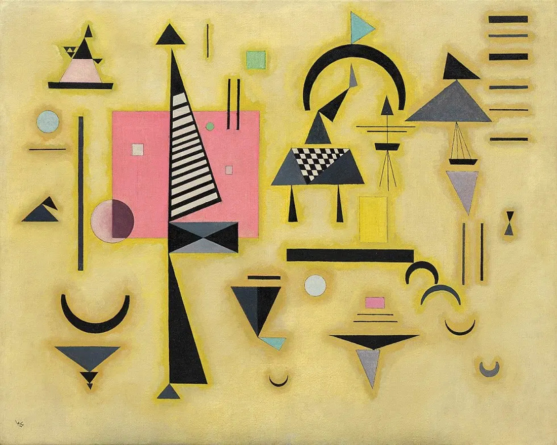 Painter Wassily Kandinsky. Painting. Decisive Pink. 1932 year
