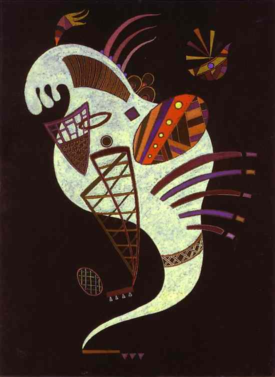 White Figure (1943)  by Wassily Kandinsky