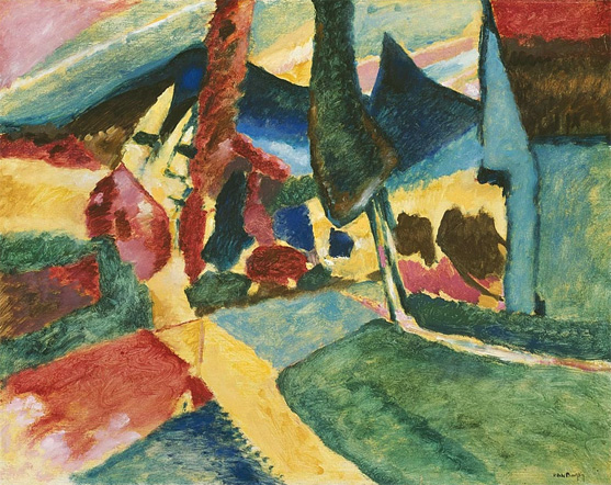 Painter Wassily Kandinsky. ������ � ����� ��������. 1923 year
