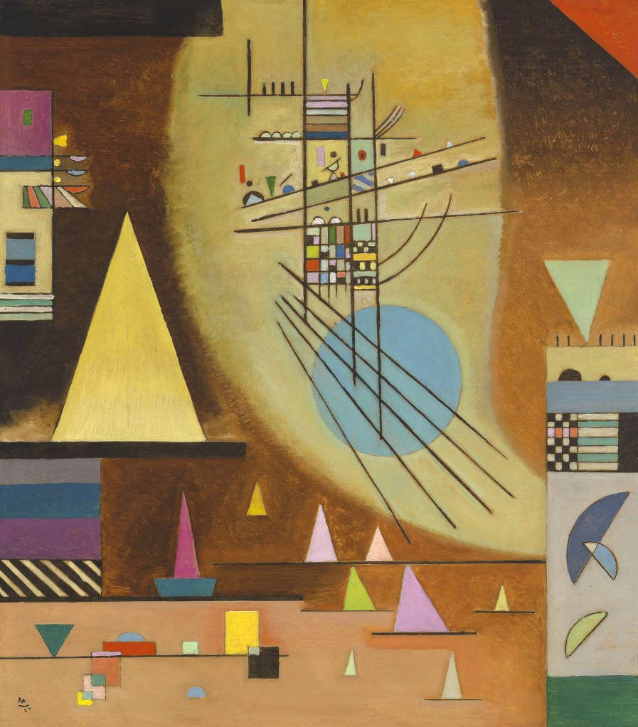 Painter Wassily Kandinsky. Painting. Silent. 1937 year