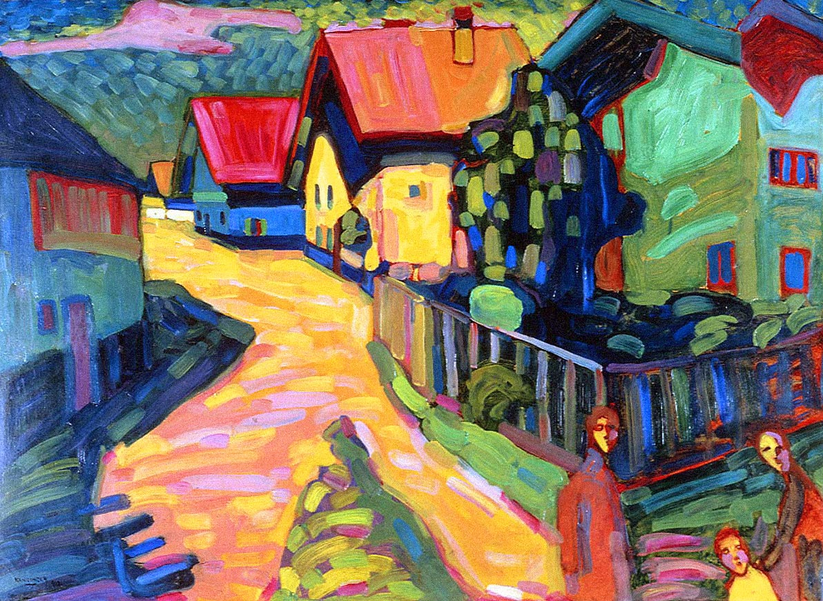 Murnau Street With Women (1908)  by Wassily Kandinsky