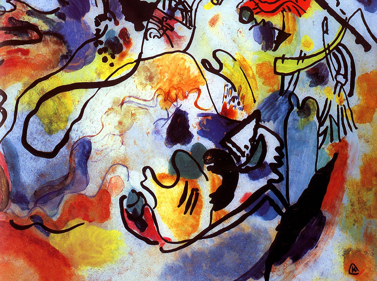 Wassily kandinsky the last judgment 1912 for Artistic mural works