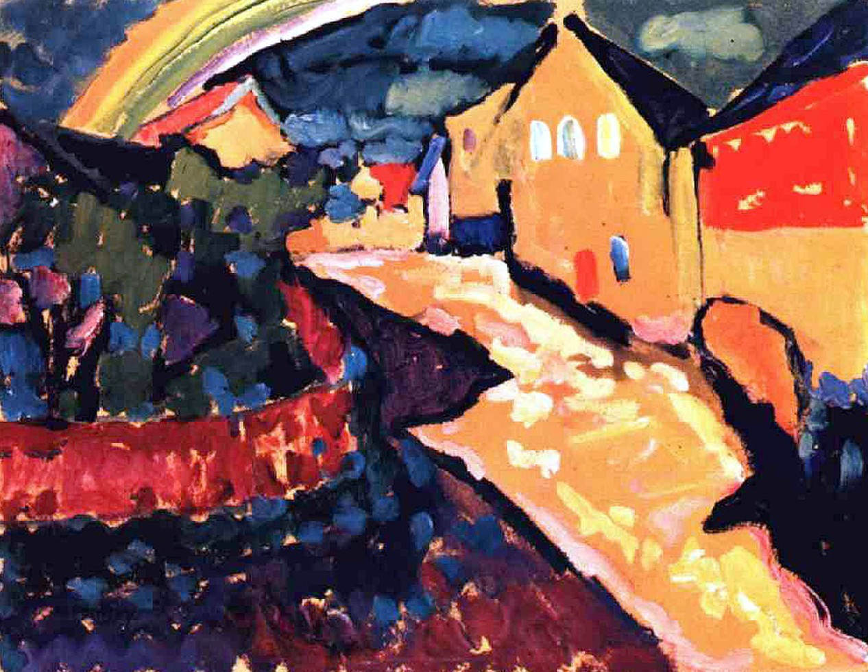 Murnau with rainbow (1909)  by Wassily Kandinsky