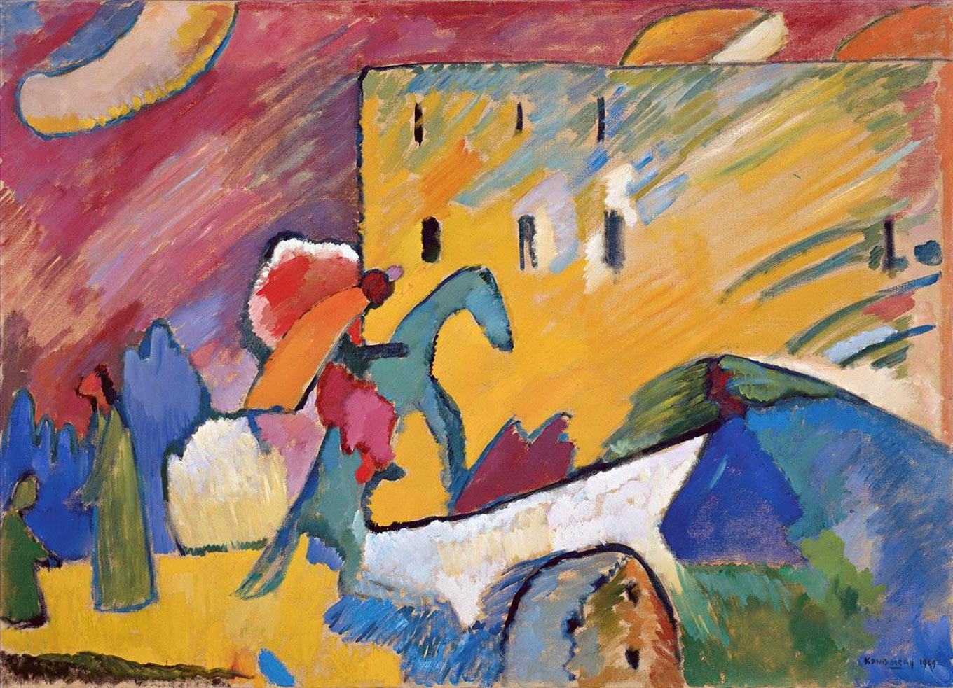 Wassily Kandinsky. Improvisation 3. 1909 year