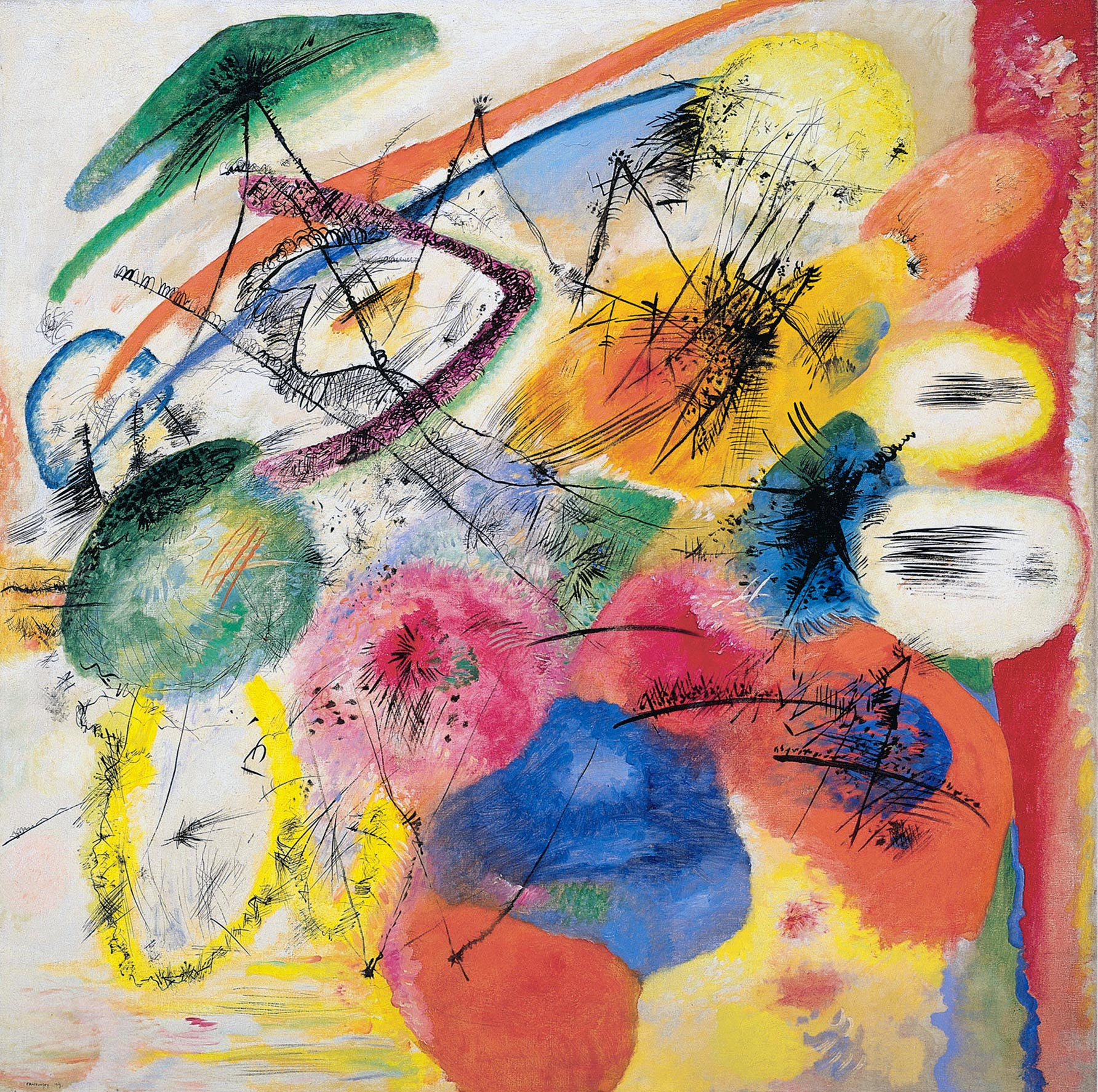 Modern Art Line Painting : Wassily kandinsky black lines i