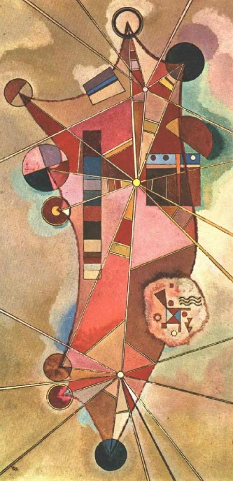 Painter Wassily Kandinsky. Painting. Fixed points. 1942 year