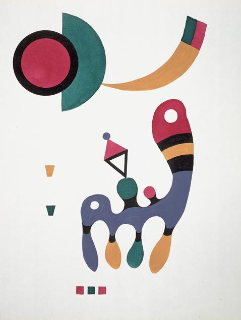 Painter Wassily Kandinsky. Painting. Composition. 1944 year