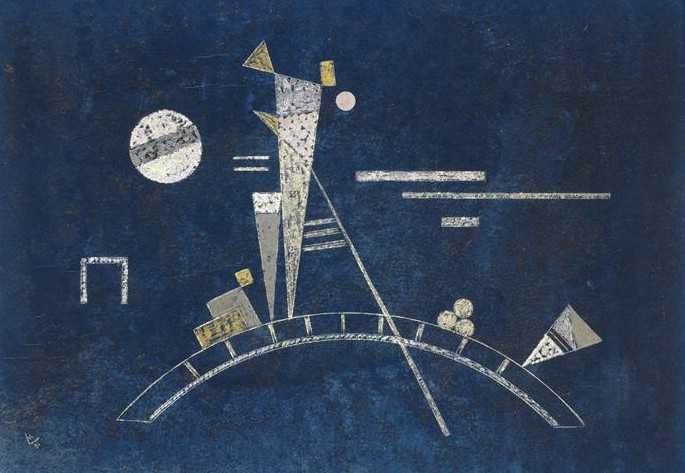 Painter Wassily Kandinsky. Painting. Fragile. 1931 year