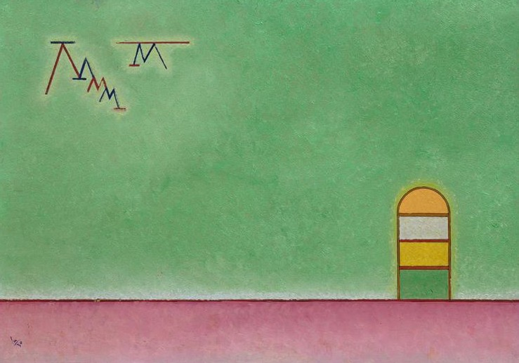 Green emptyness (1930)  by Wassily Kandinsky