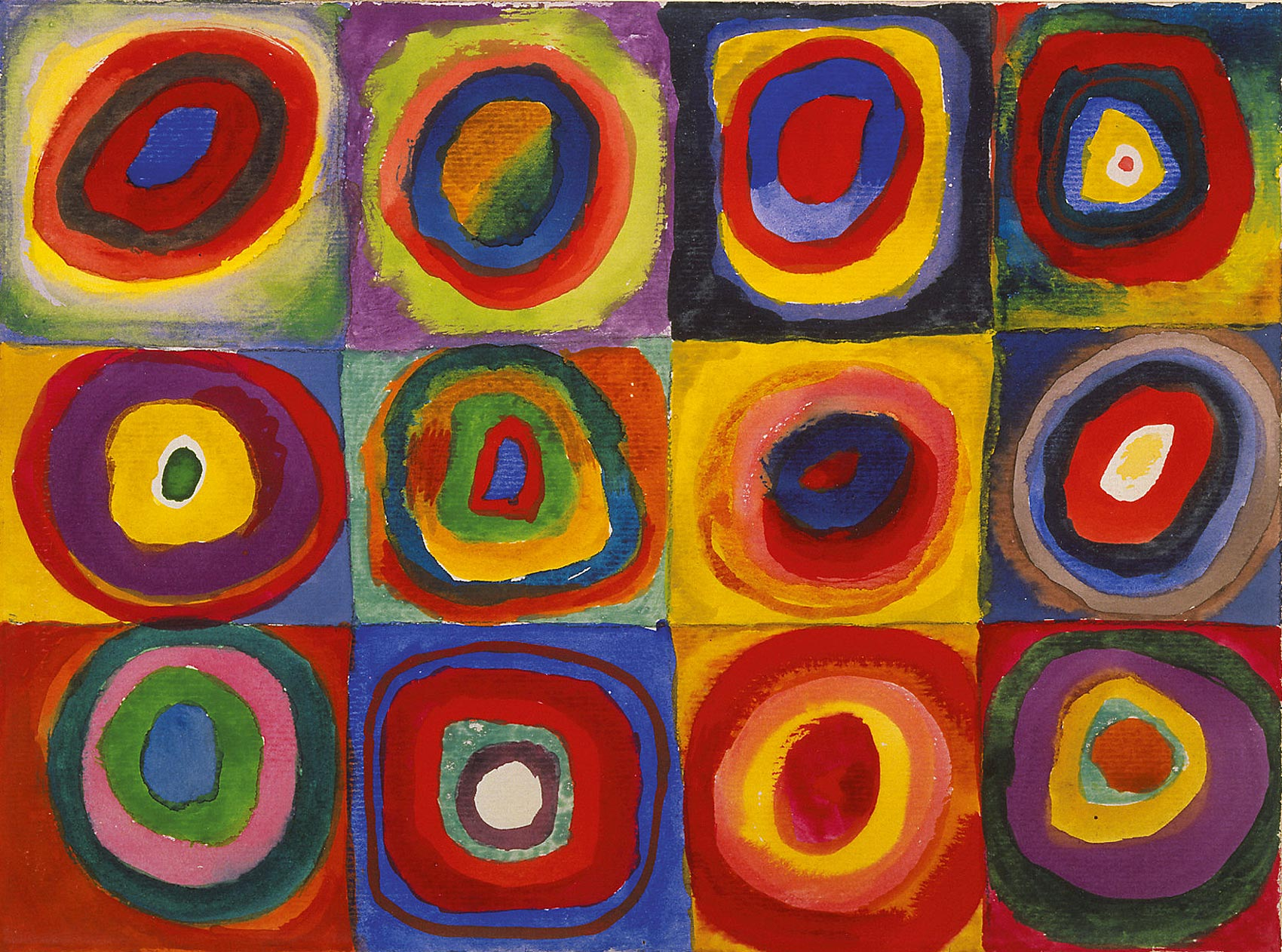 Color Study. Squares with Concentric Circles - Kandisky