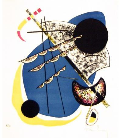 Painter Wassily Kandinsky. Painting. Kleine Welten II (Small Worlds II), from the series Kleine Welten (Small Worlds). 1922 year