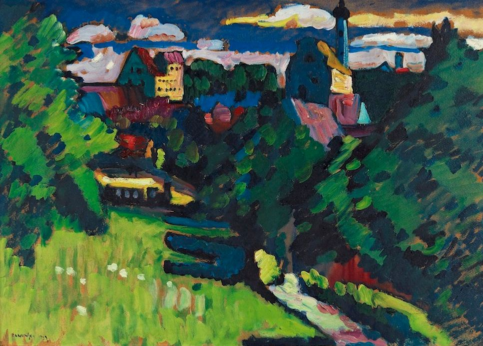 Painter Wassily Kandinsky. ��� ������ � �������� �������, �������� � ������.