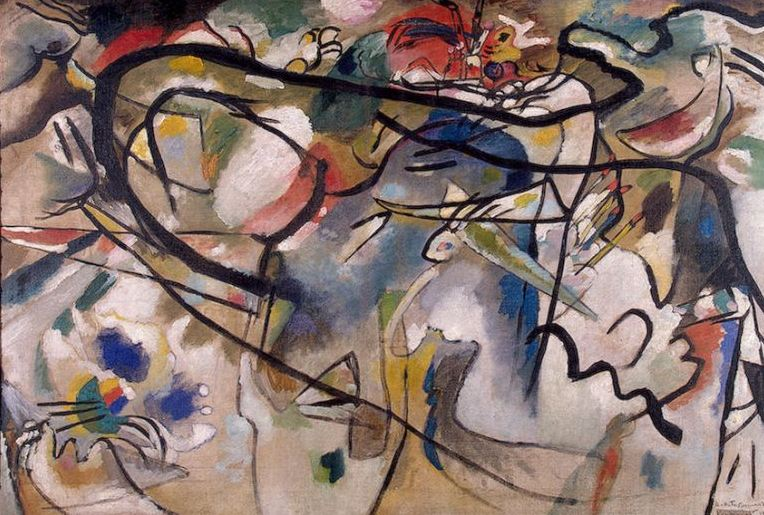 Sketch for Composition V (1911)  by Wassily Kandinsky