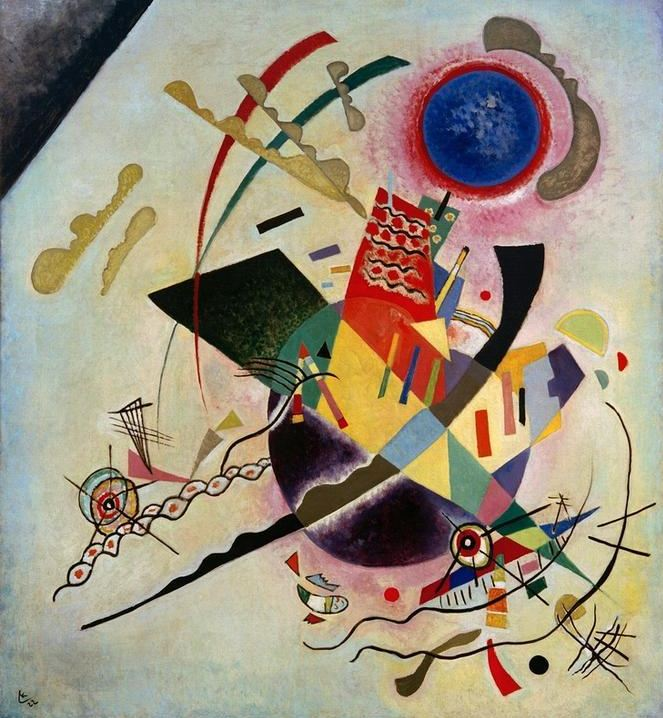 Blue Circle (1922)  by Wassily Kandinsky