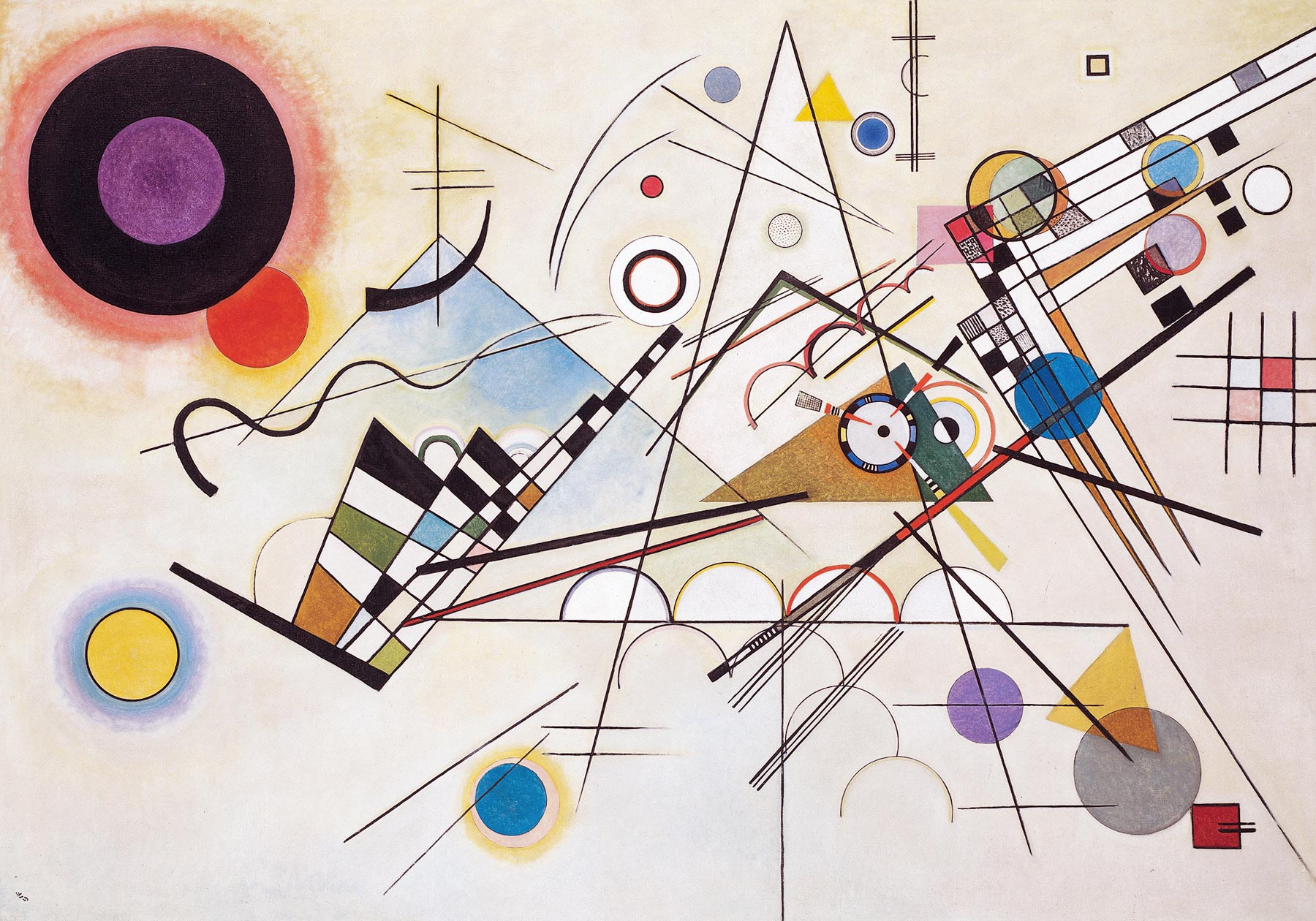 Wassily Kandinsky. Composition VIII. 1923 year