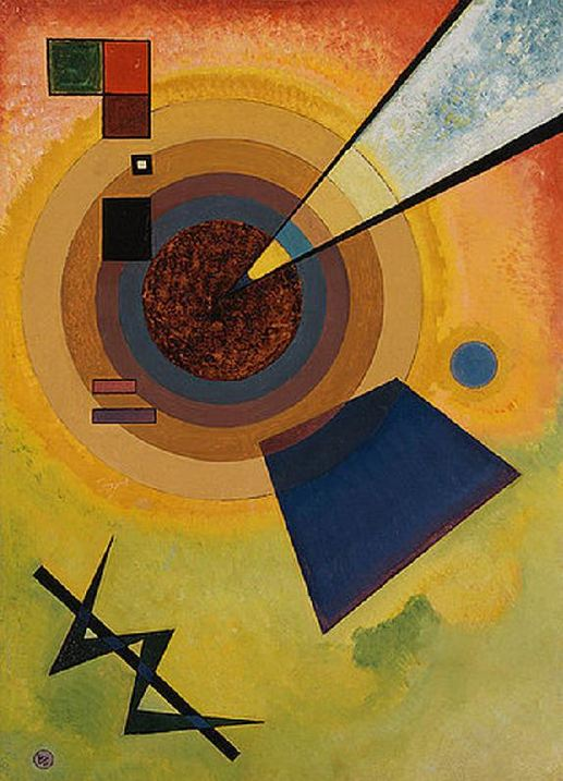 Green and red (1925)  by Wassily Kandinsky