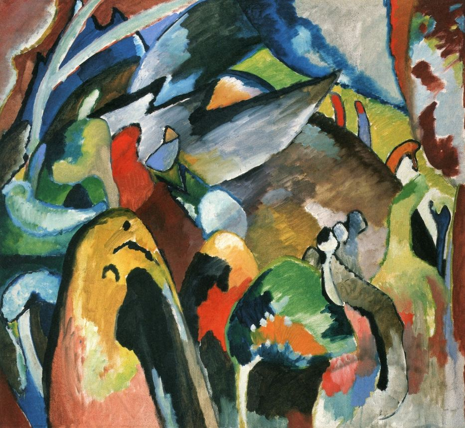 Improvisation 19A (1911)  by Wassily Kandinsky