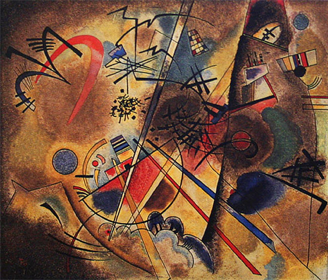 Painter Wassily Kandinsky. ��������� ����� � �������. 1908 year