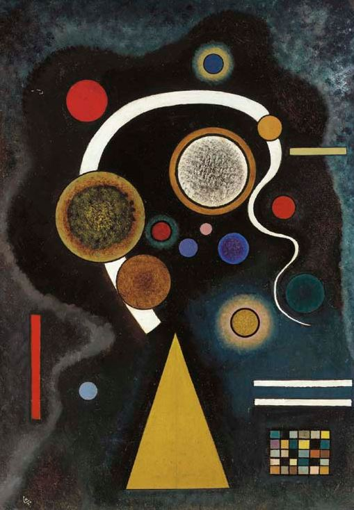 Capricious Line (1924)  by Wassily Kandinsky