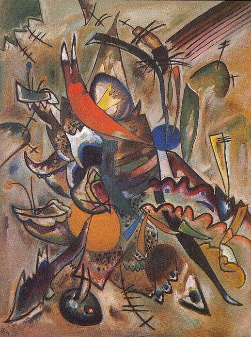 Composition #223 (picture with tops) (1919)  by Wassily Kandinsky