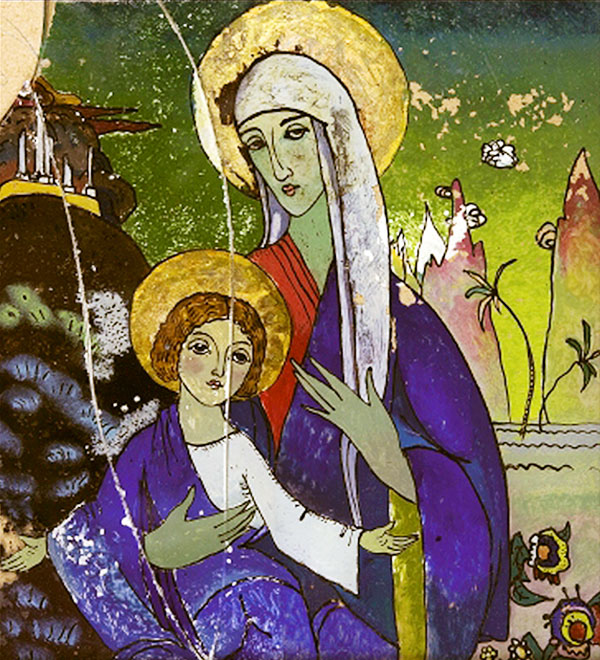 Madonna and Christ (1917)  by Wassily Kandinsky