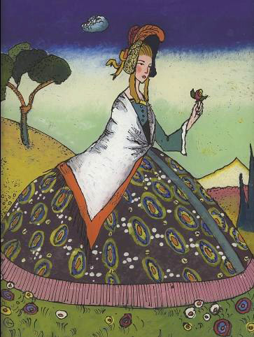 Lady with flower (1917)  by Wassily Kandinsky