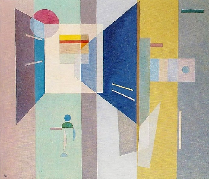 After right - to the left (1932)  by Wassily Kandinsky