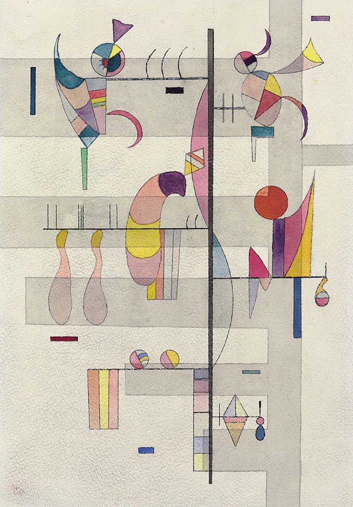 Distribution (1934)  by Wassily Kandinsky