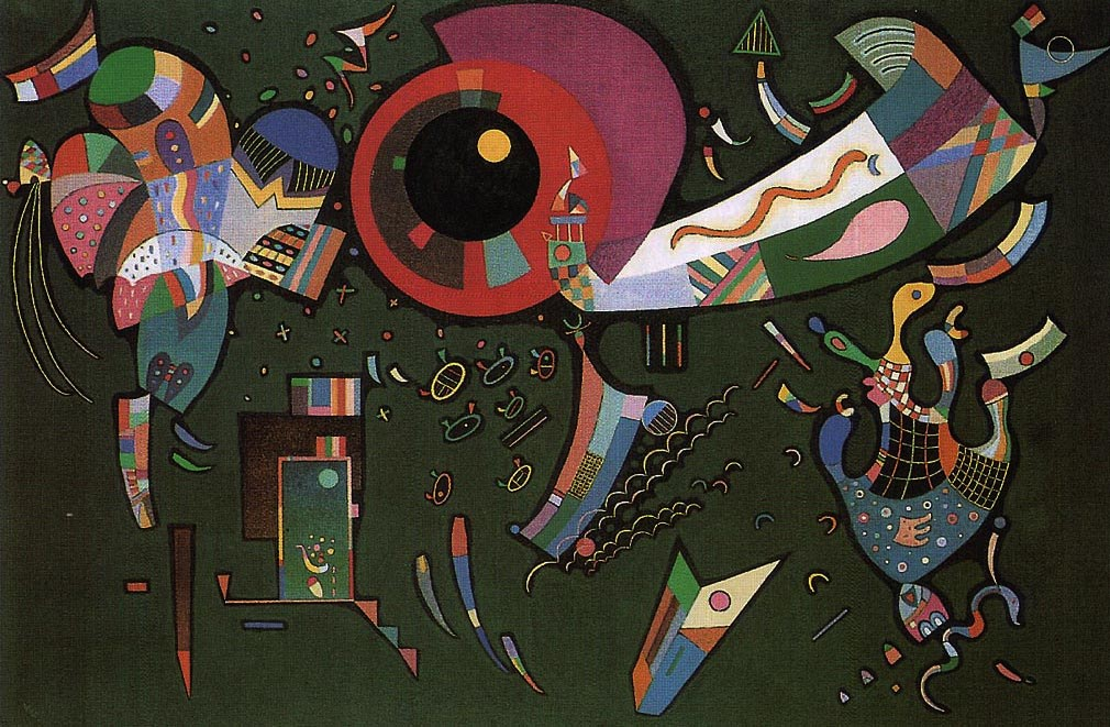 Around The Circle (1940)  by Wassily Kandinsky