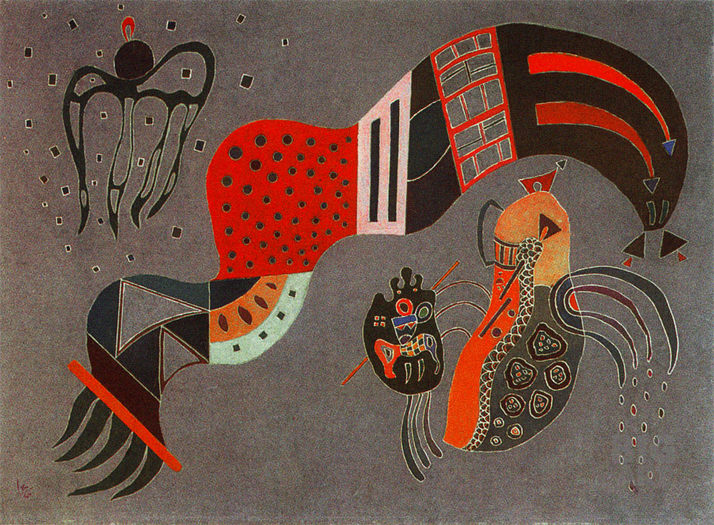 Tempered Elan (1944)  by Wassily Kandinsky