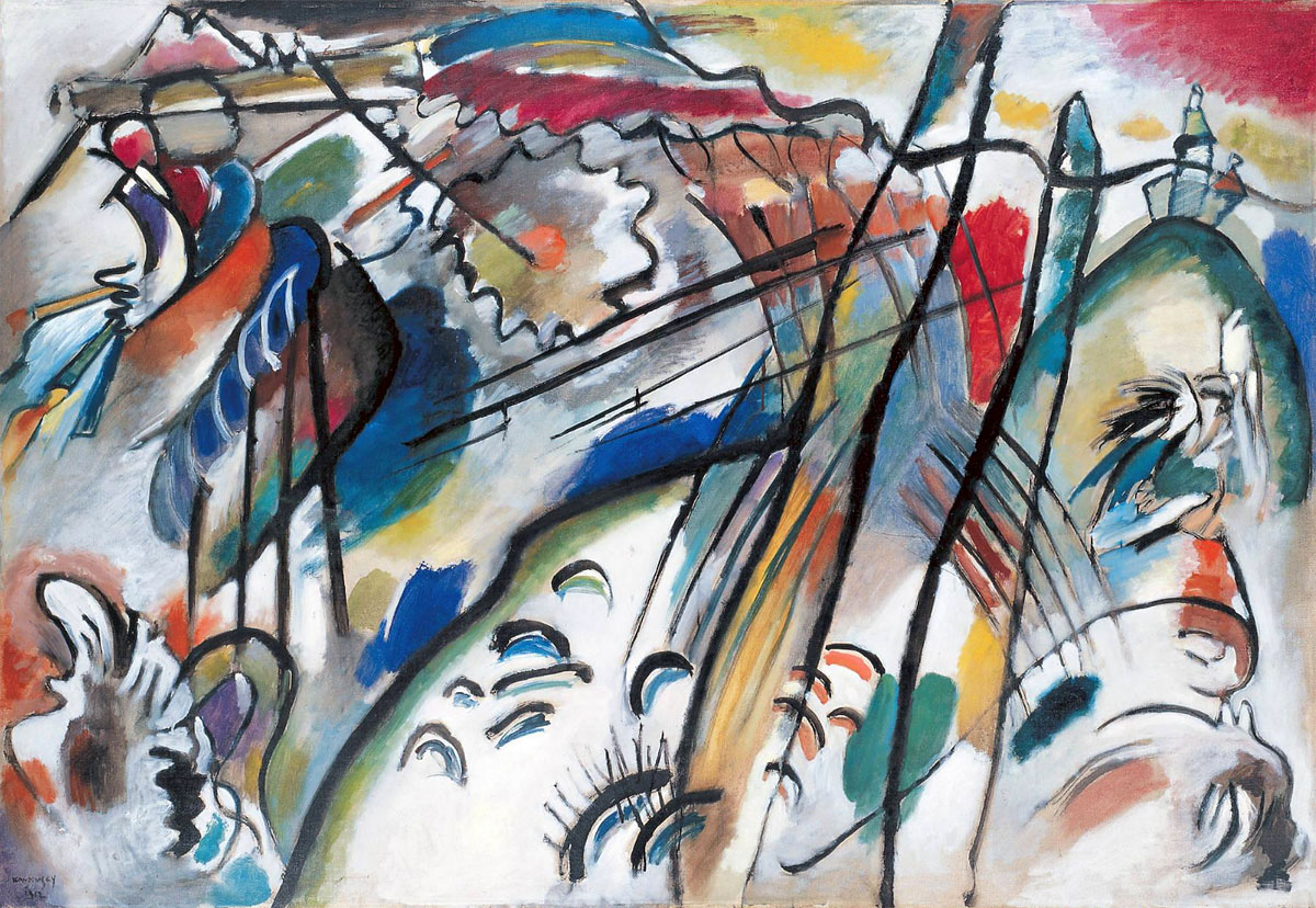 Improvisation 28 (second version) (1912)  by Wassily Kandinsky