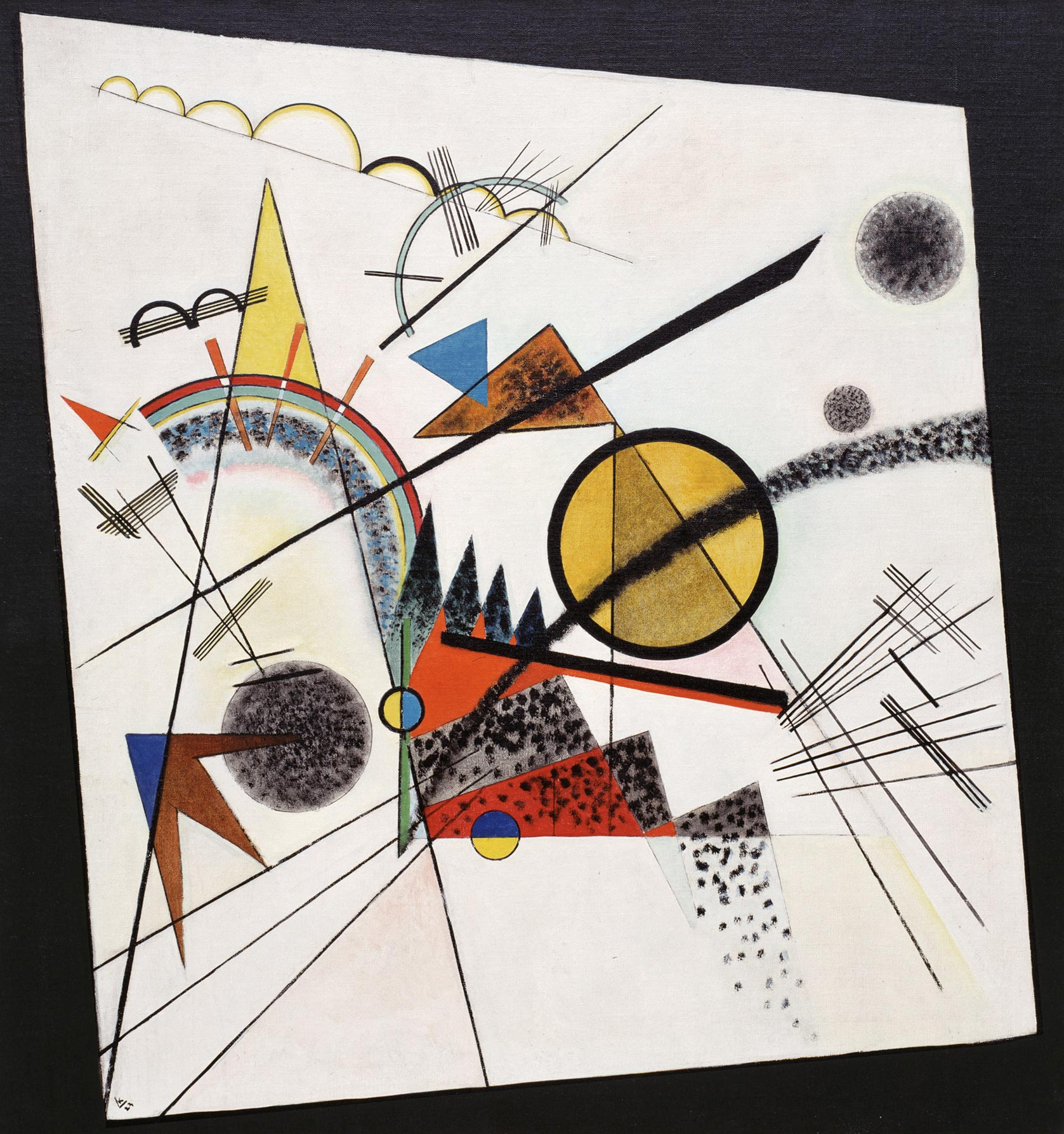 Painter Wassily Kandinsky. Painting. In the Black Square. 1923 year