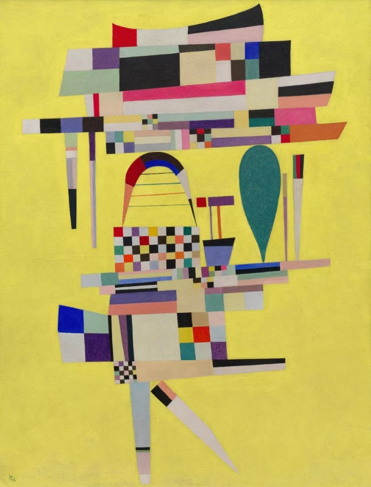 Yellow painting (1938)  by Wassily Kandinsky
