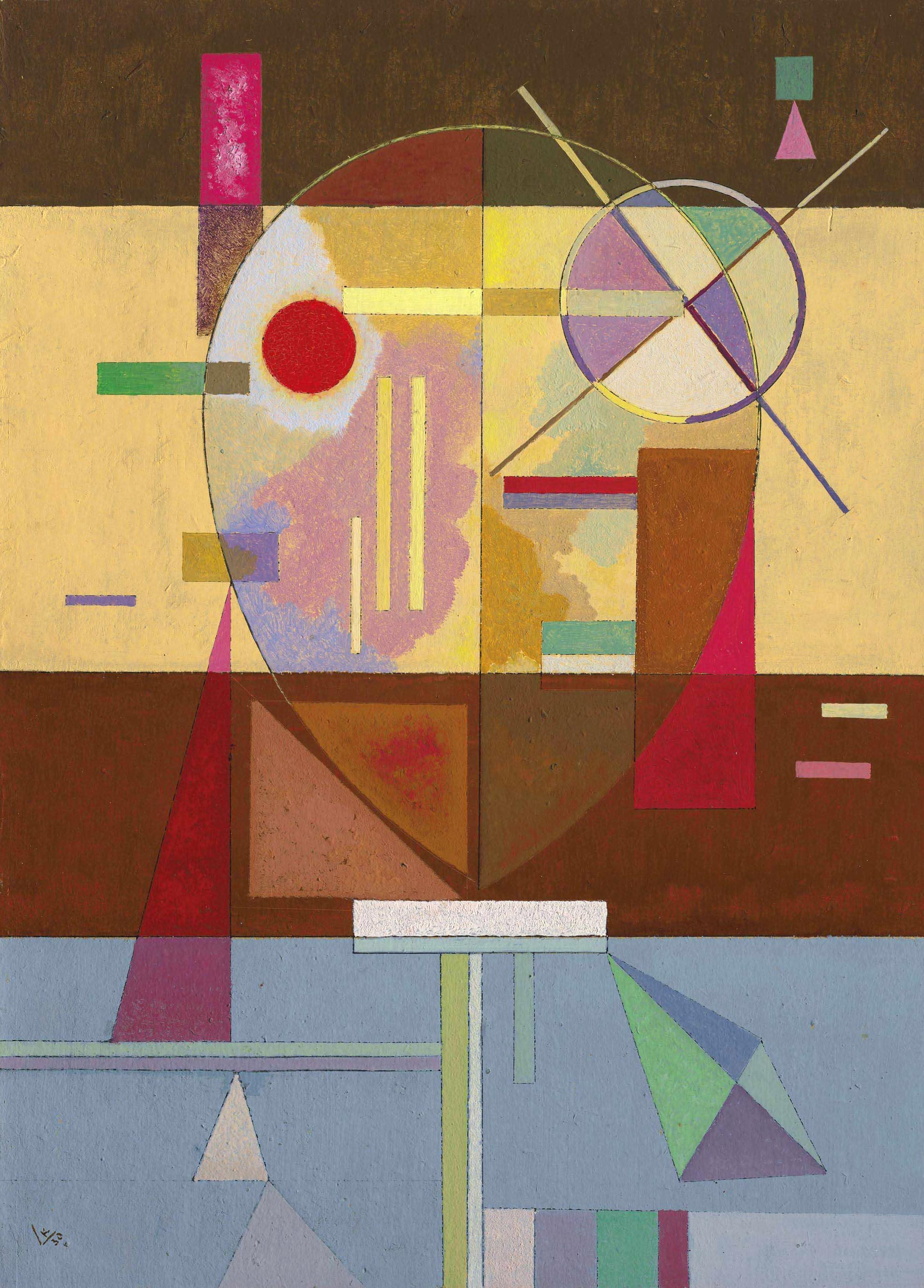 Disintegrated Tension (1930)  by Wassily Kandinsky