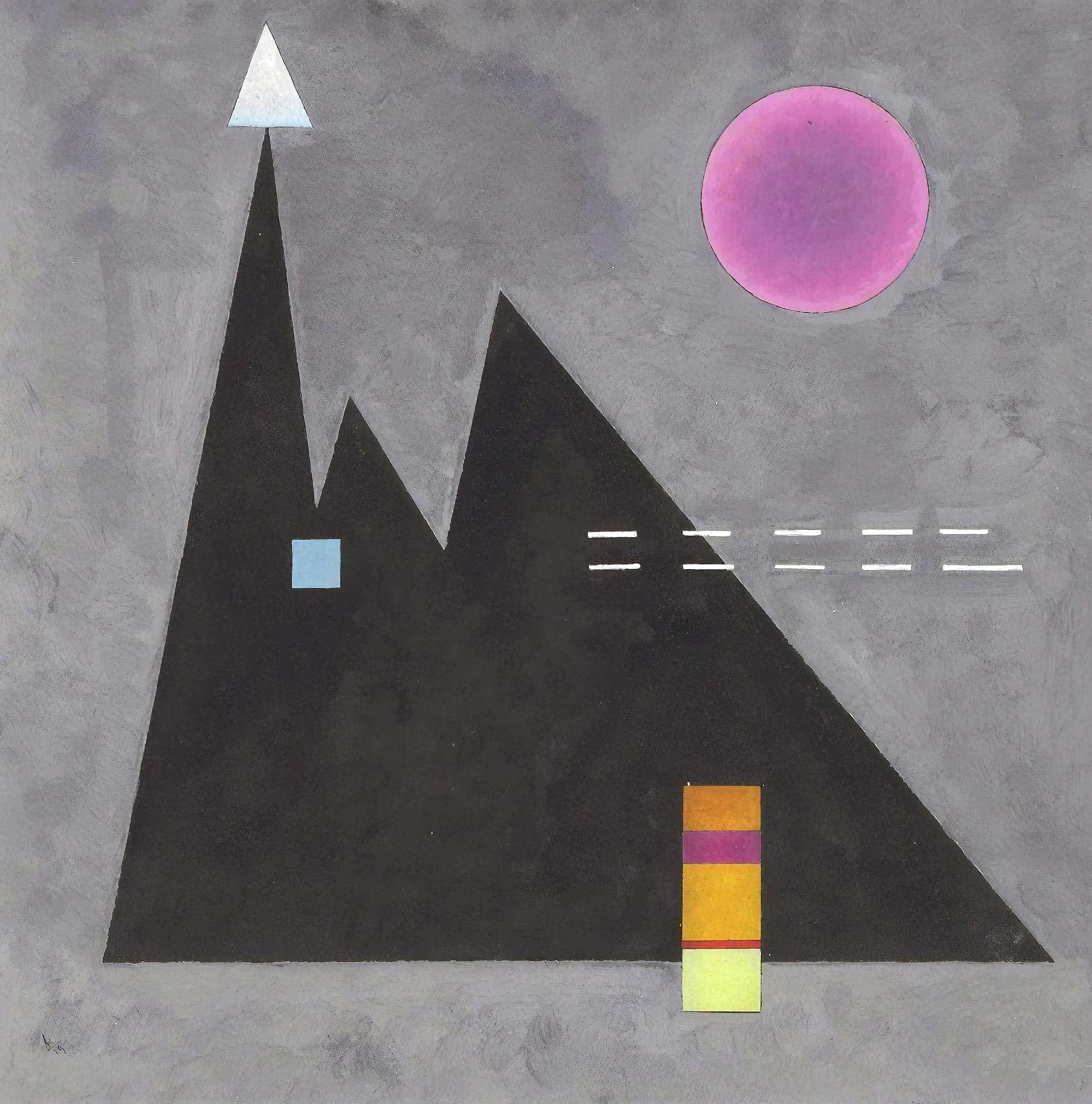 Sharp in Blunt (1929)  by Wassily Kandinsky