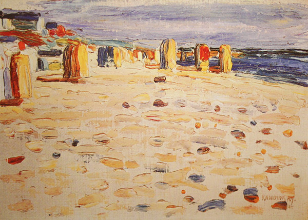 Beach Baskets In Holland (1904)  by Wassily Kandinsky