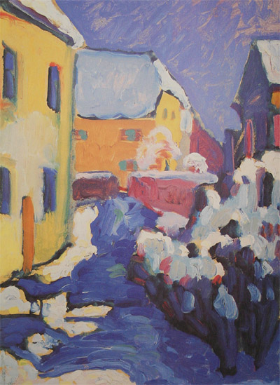 Wassily Kandinsky. Cemetery And Vicarage In Kochel, 1909